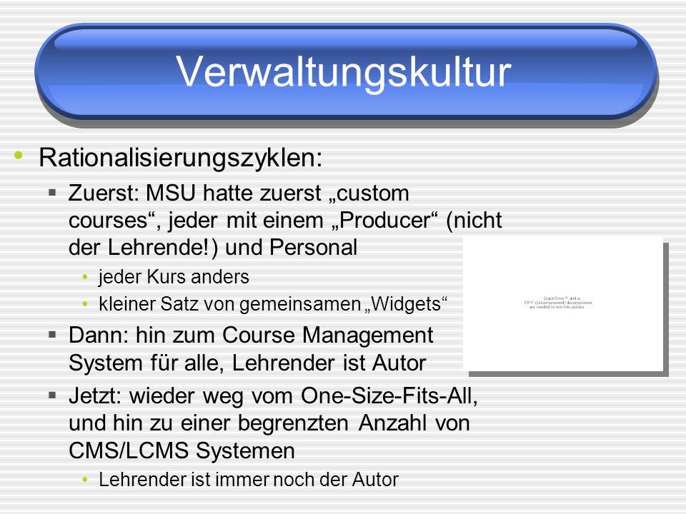 Verwaltungskultur Rationalisierungszyklen: