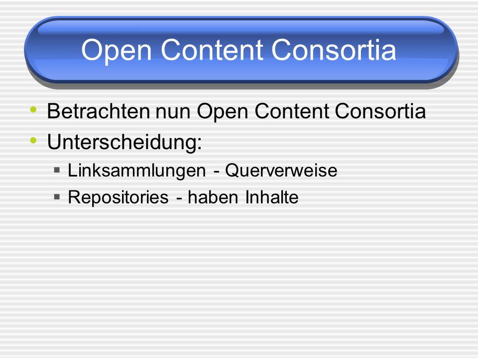 Open Content Consortia