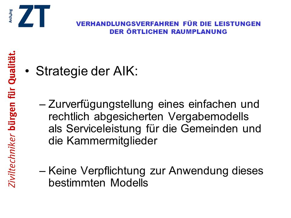 Strategie der AIK: