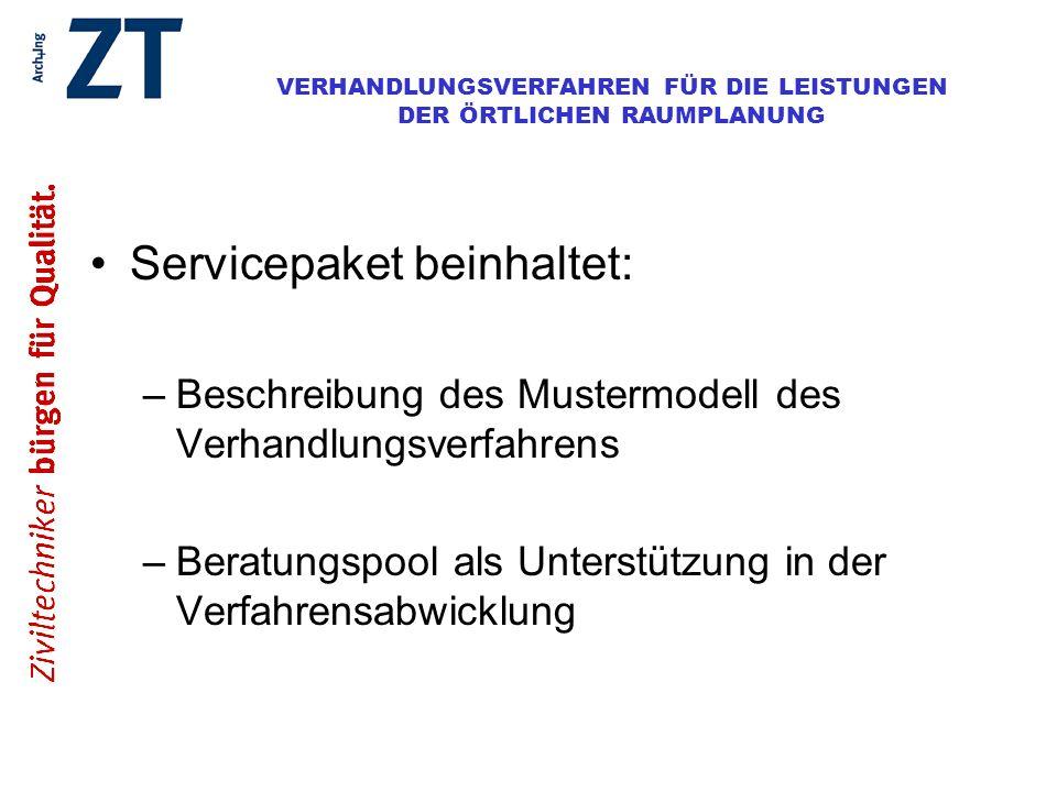 Servicepaket beinhaltet: