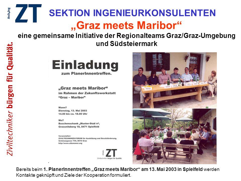 """SEKTION INGENIEURKONSULENTEN """"Graz meets Maribor eine gemeinsame Initiative der Regionalteams Graz/Graz-Umgebung und Südsteiermark"""