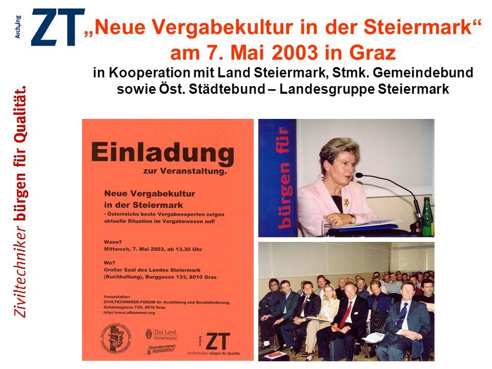 """""""Neue Vergabekultur in der Steiermark am 7"""