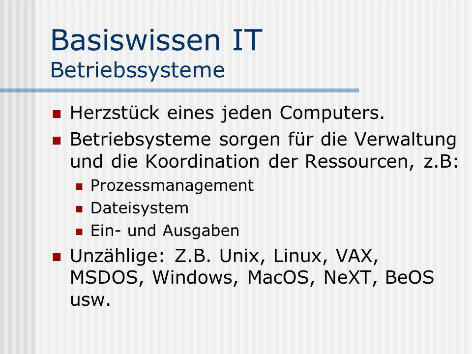 Basiswissen IT Betriebssysteme