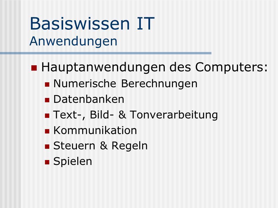 Basiswissen IT Anwendungen