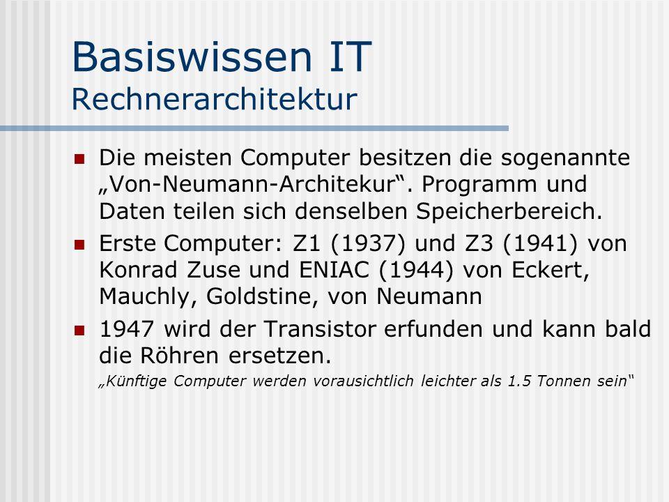 Basiswissen IT Rechnerarchitektur