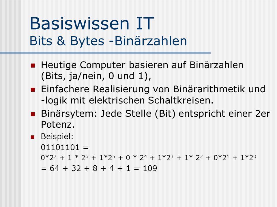 Basiswissen IT Bits & Bytes -Binärzahlen