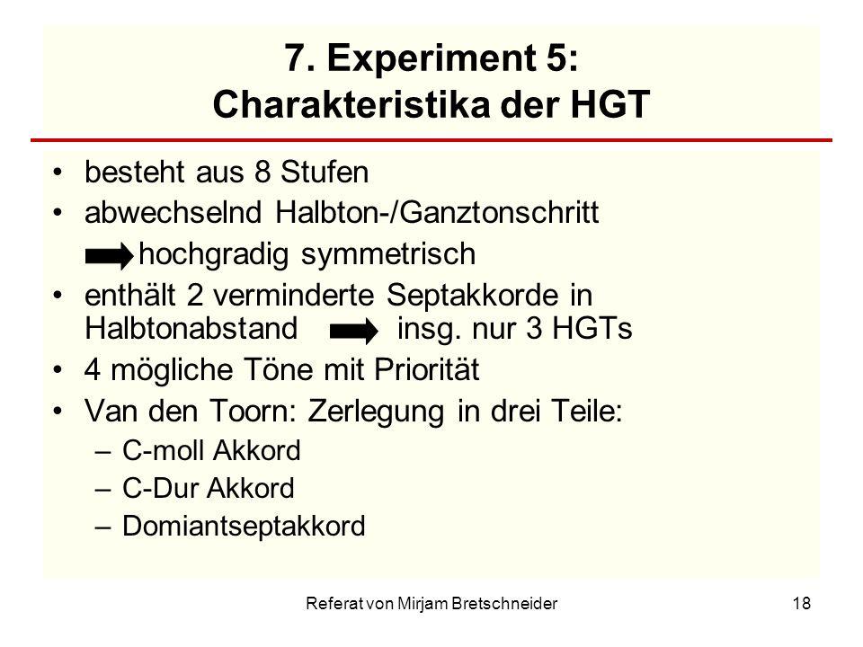 7. Experiment 5: Charakteristika der HGT
