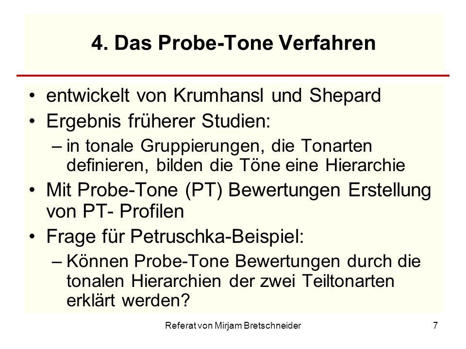 4. Das Probe-Tone Verfahren