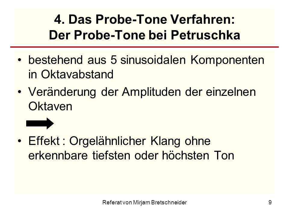 4. Das Probe-Tone Verfahren: Der Probe-Tone bei Petruschka