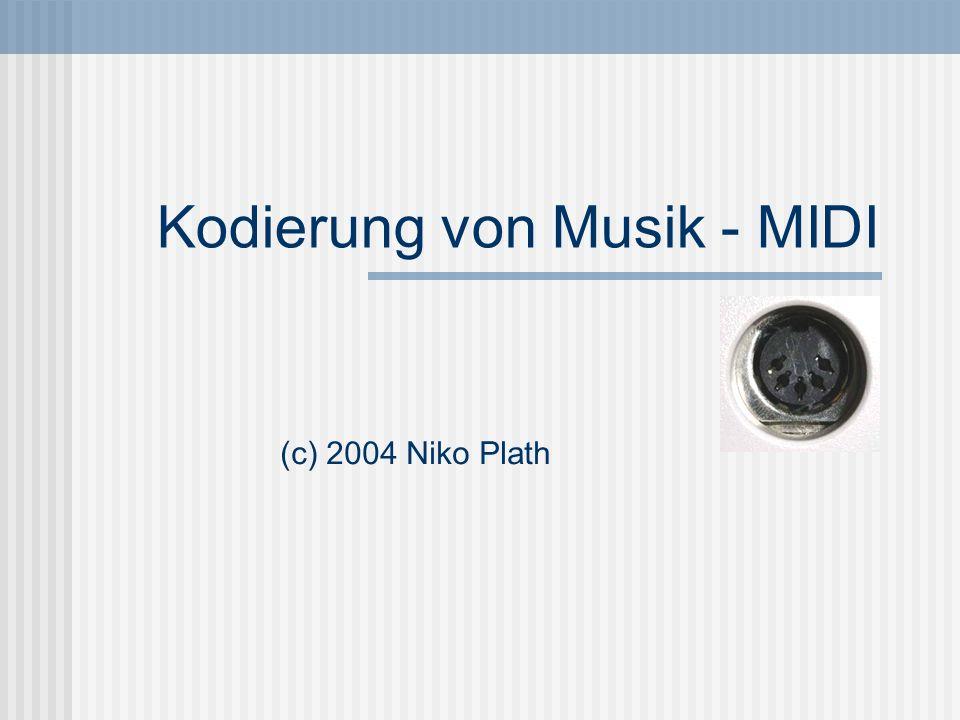 Kodierung von Musik - MIDI