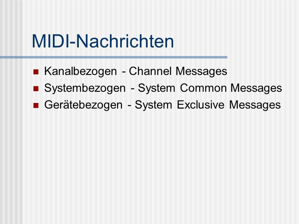 MIDI-Nachrichten Kanalbezogen - Channel Messages