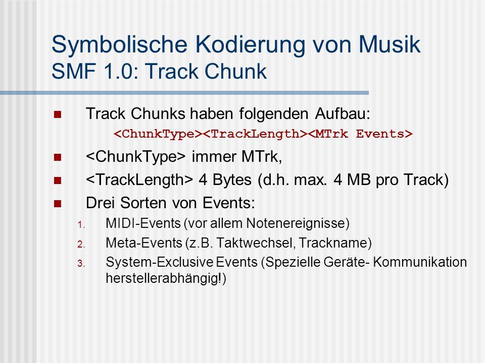 Symbolische Kodierung von Musik SMF 1.0: Track Chunk