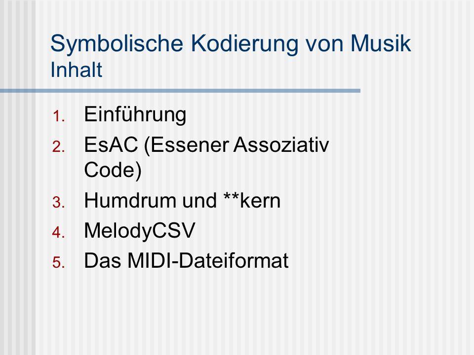 Symbolische Kodierung von Musik Inhalt