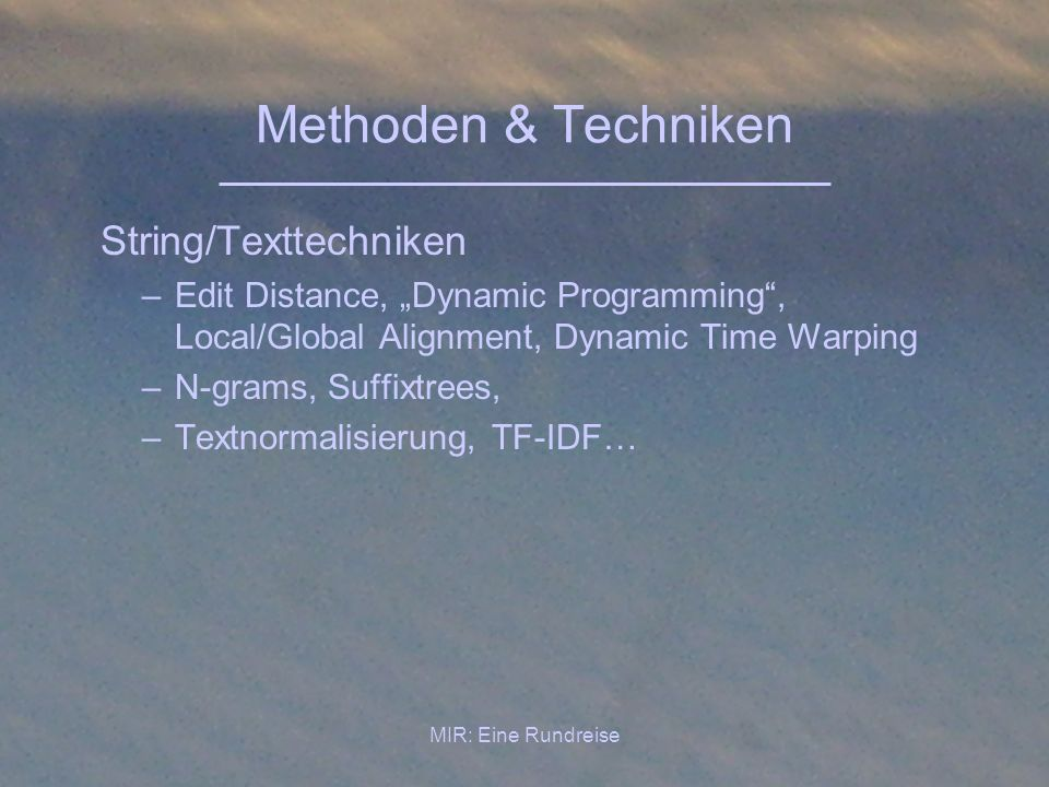 Methoden & Techniken String/Texttechniken
