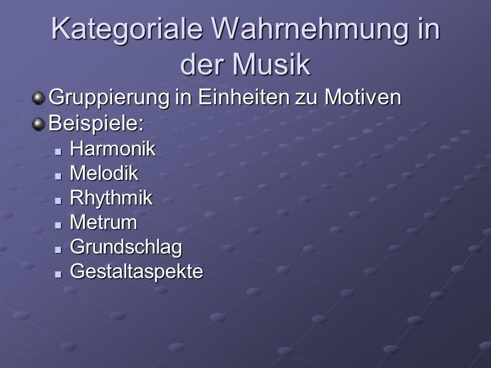 Kategoriale Wahrnehmung in der Musik