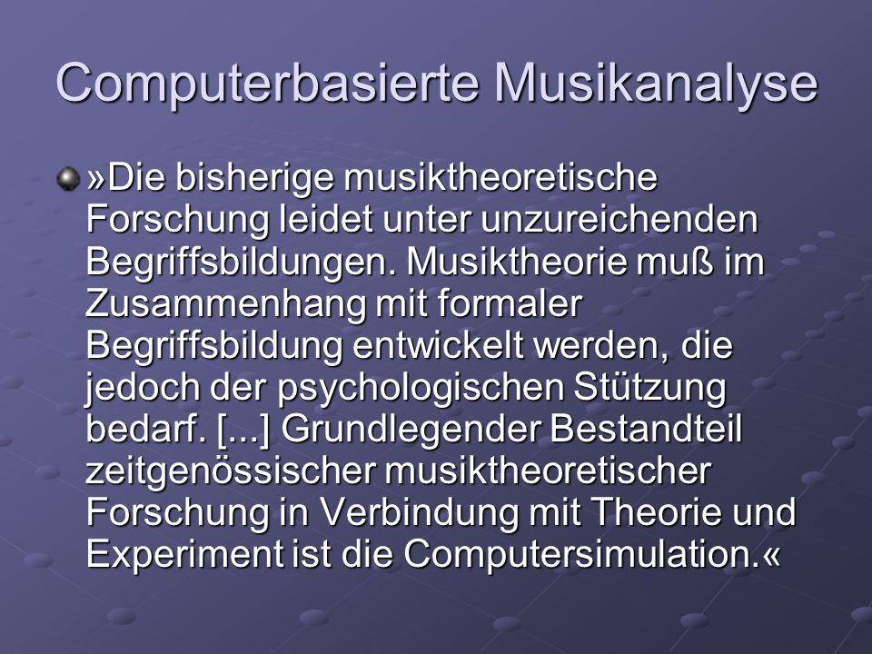Computerbasierte Musikanalyse