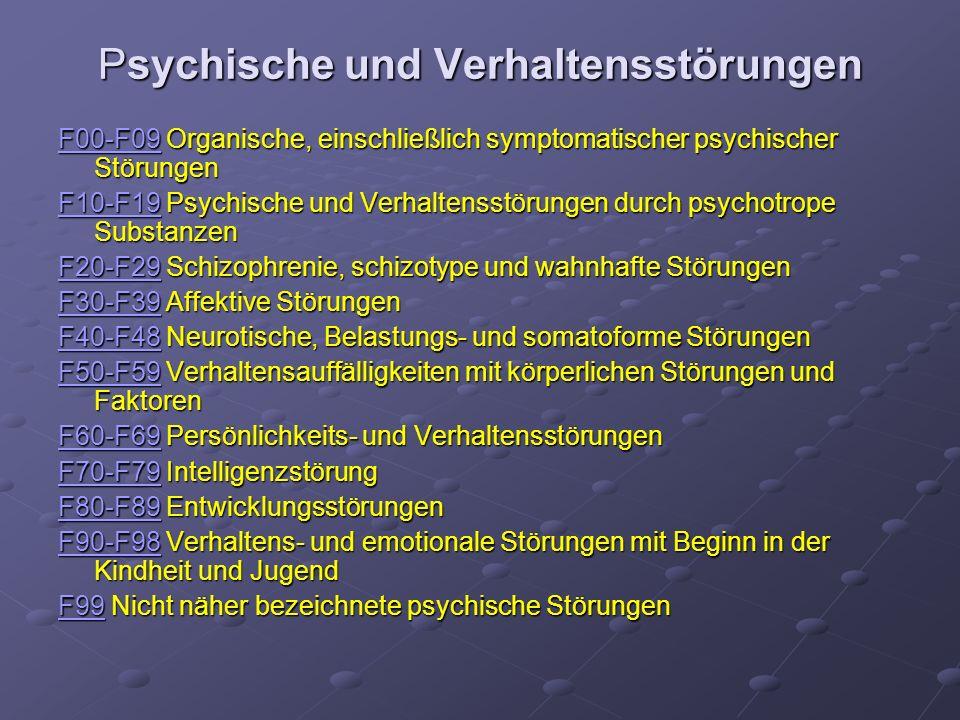 Psychische und Verhaltensstörungen
