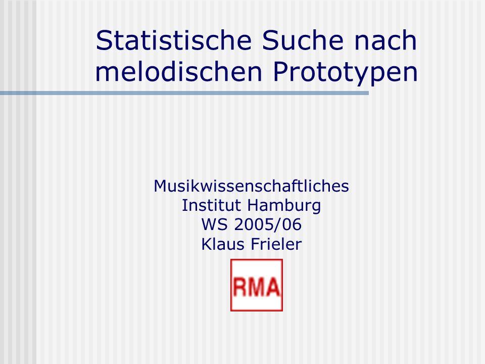 Statistische Suche nach melodischen Prototypen