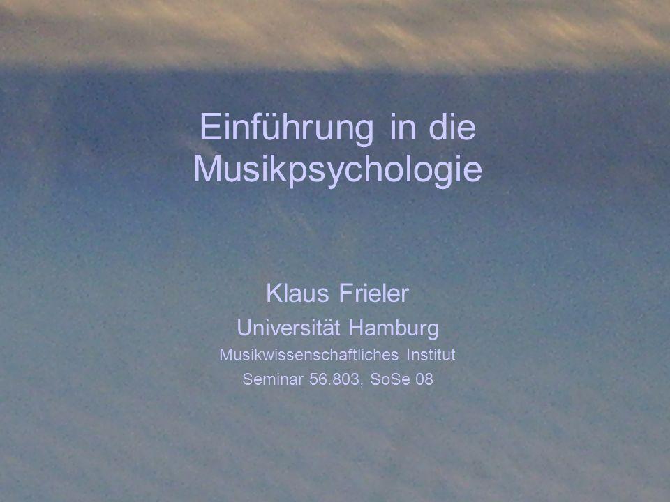 Einführung in die Musikpsychologie