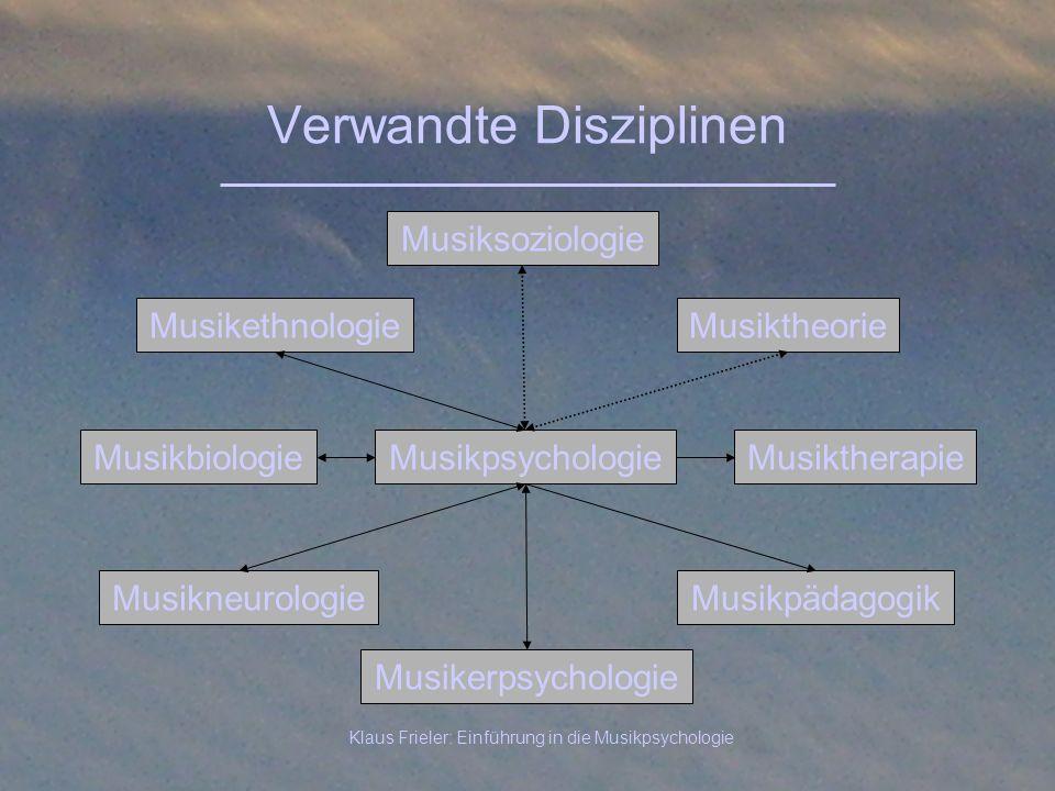 Verwandte Disziplinen