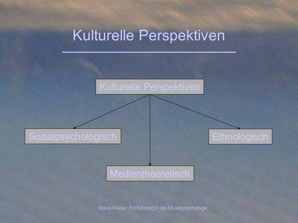 Kulturelle Perspektiven
