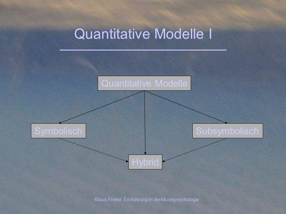 Quantitative Modelle I