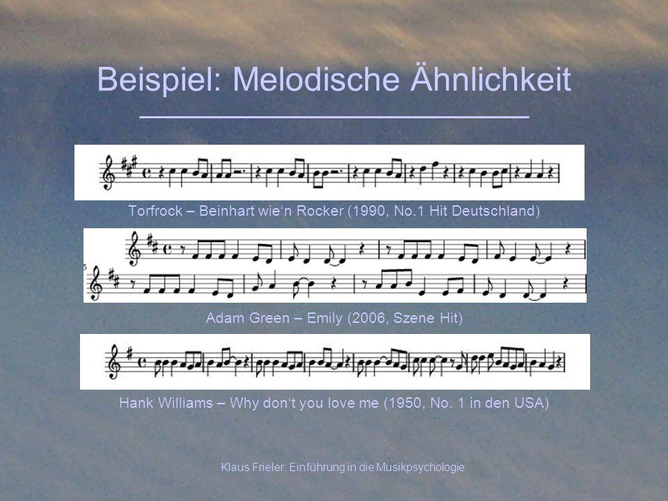 Beispiel: Melodische Ähnlichkeit