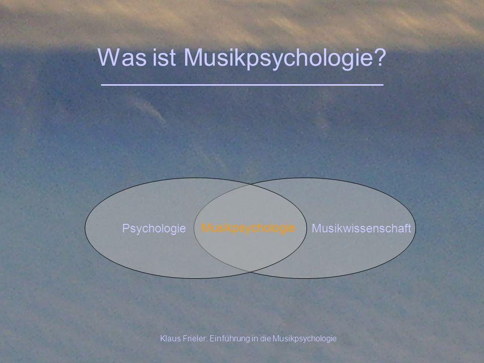 Was ist Musikpsychologie