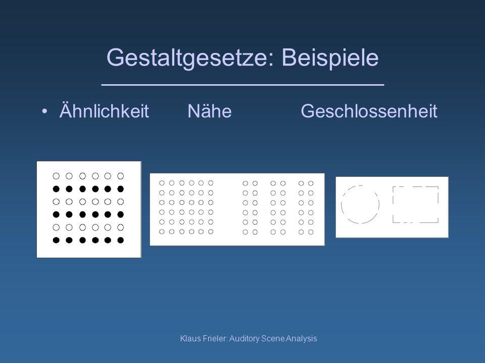 Gestaltgesetze: Beispiele