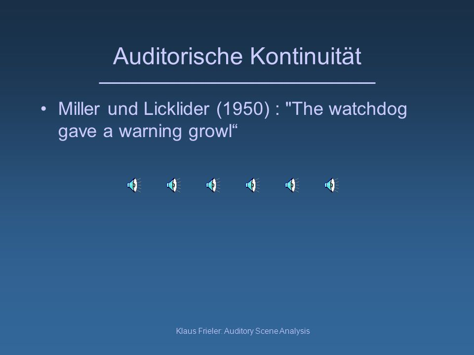 Auditorische Kontinuität