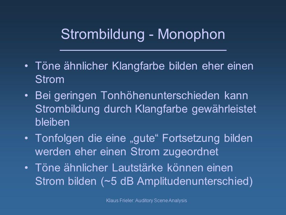 Strombildung - Monophon