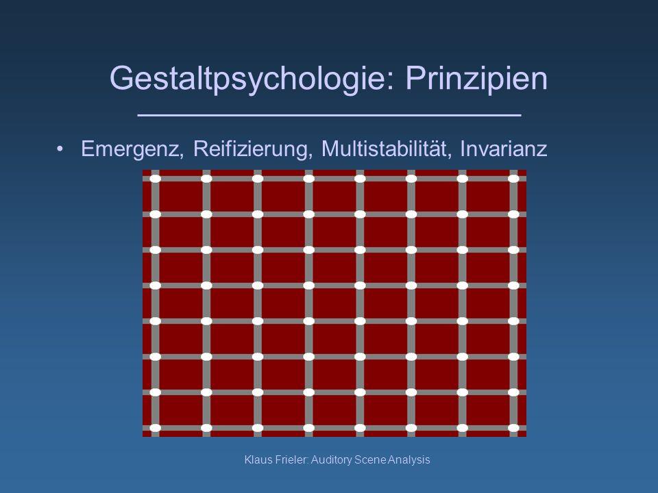 Gestaltpsychologie: Prinzipien