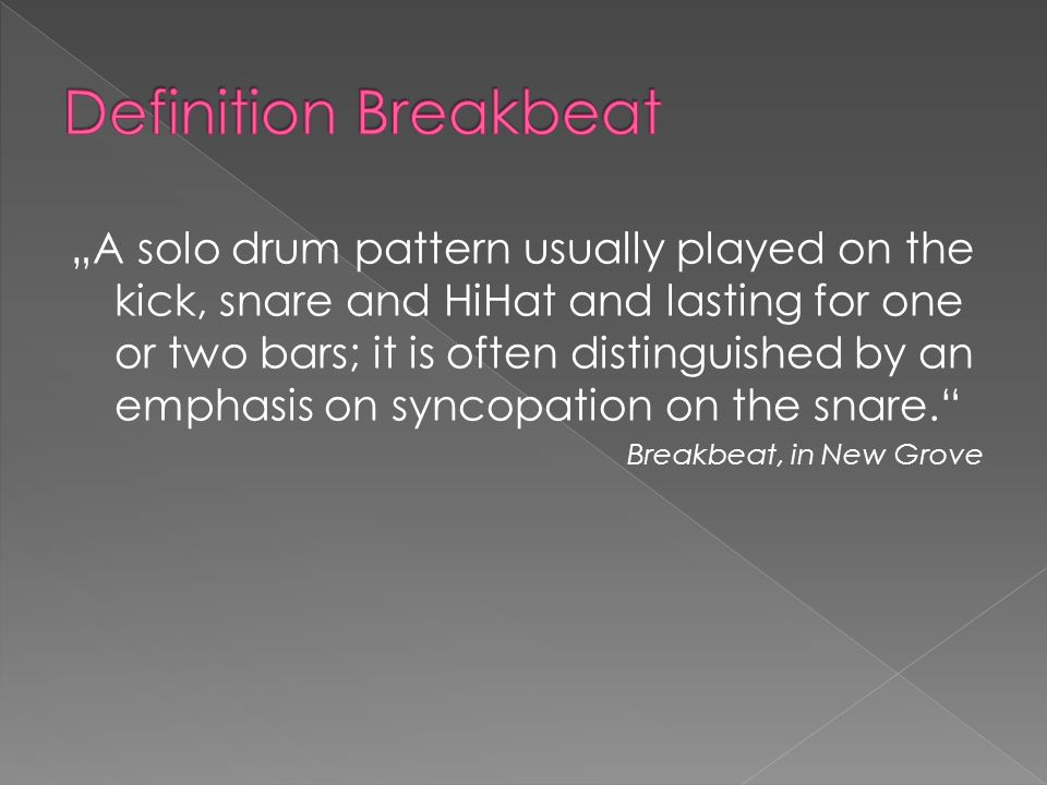 Definition Breakbeat