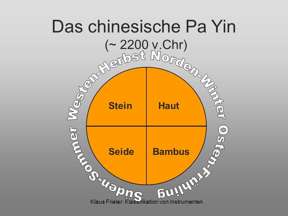 Das chinesische Pa Yin (~ 2200 v.Chr)