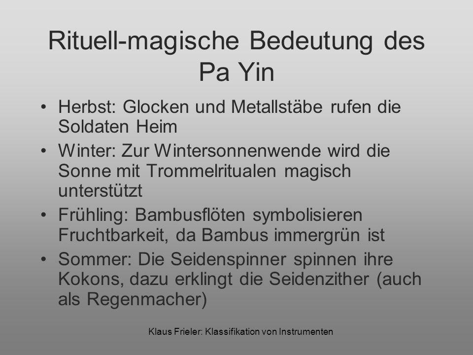 Rituell-magische Bedeutung des Pa Yin
