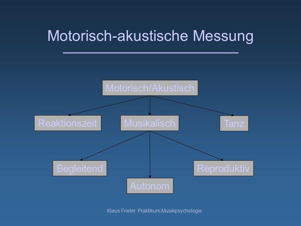 Motorisch-akustische Messung