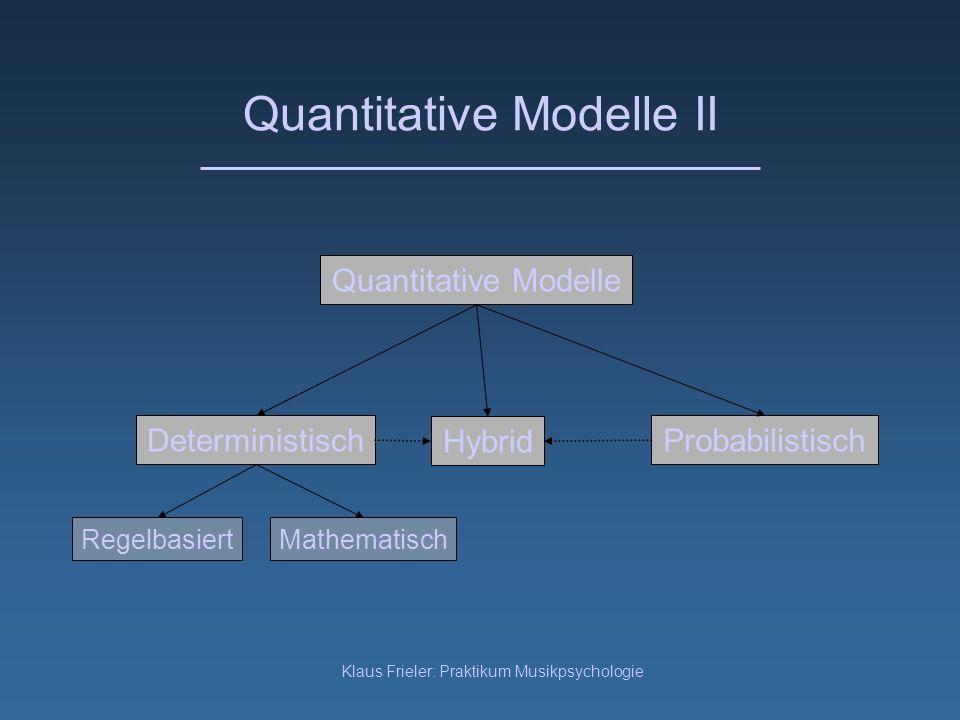 Quantitative Modelle II