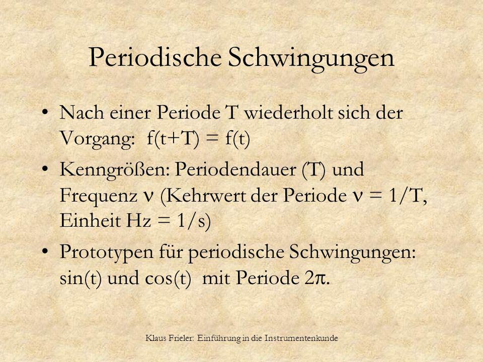 Periodische Schwingungen