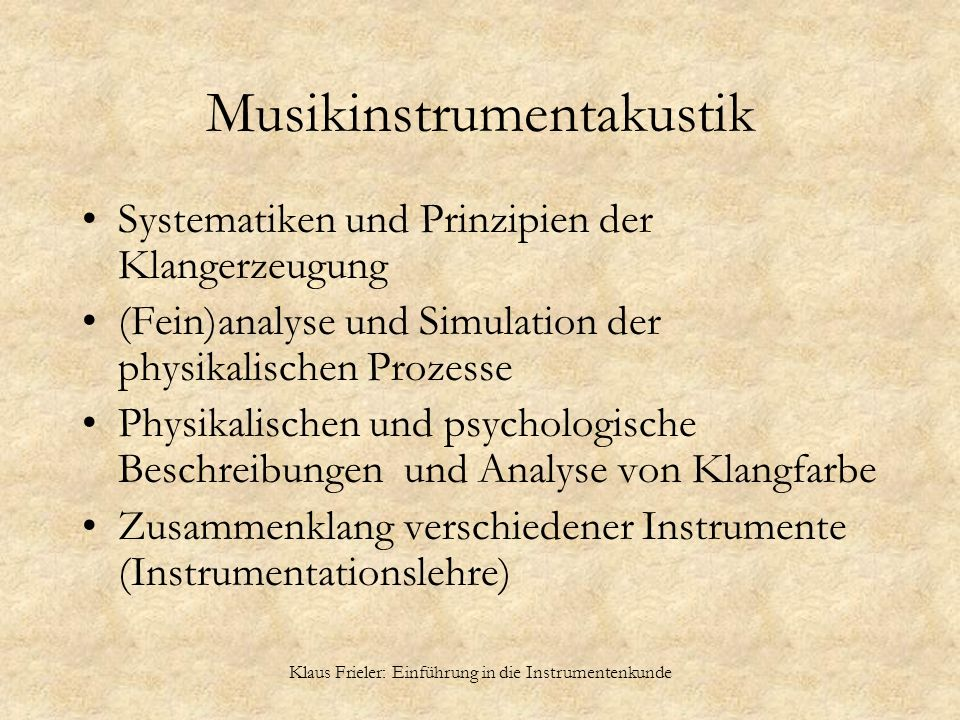 Musikinstrumentakustik
