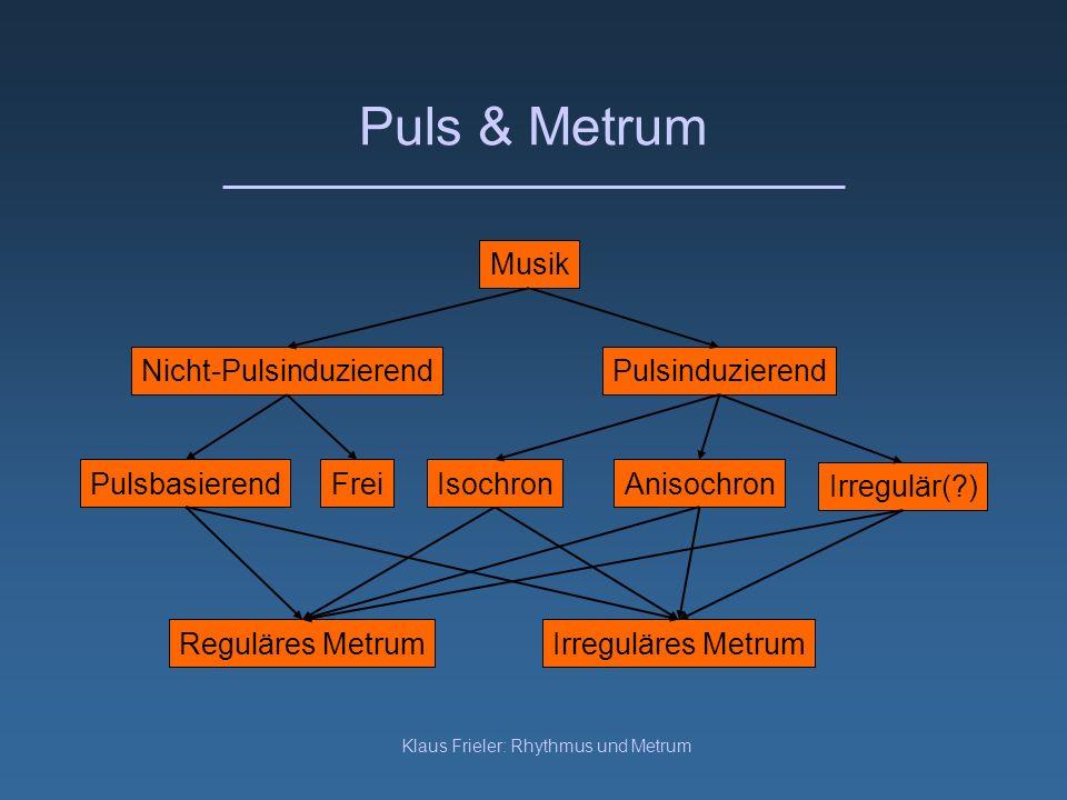 Puls & Metrum Musik Nicht-Pulsinduzierend Pulsinduzierend