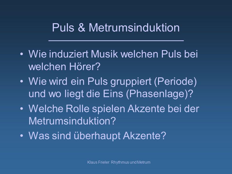 Puls & Metrumsinduktion