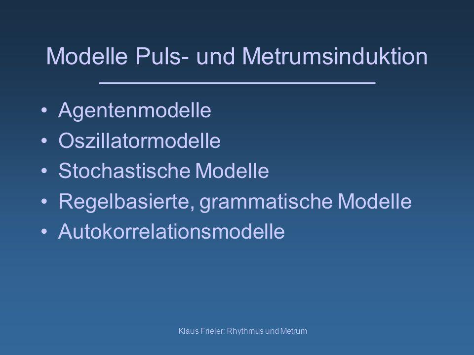 Modelle Puls- und Metrumsinduktion