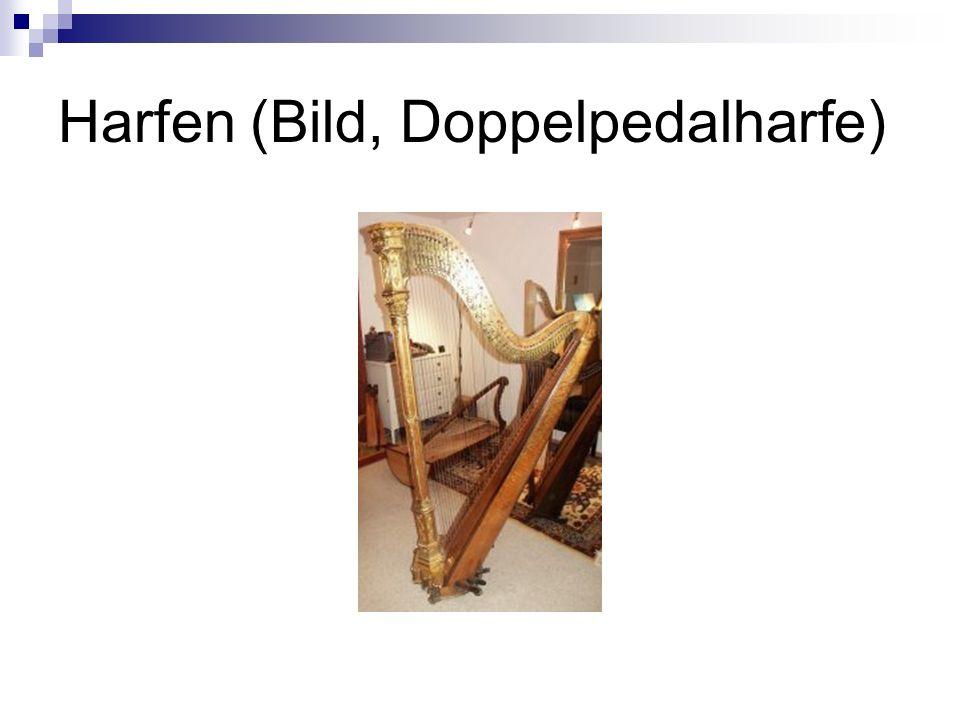 Harfen (Bild, Doppelpedalharfe)