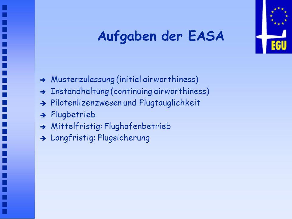 Aufgaben der EASA Musterzulassung (initial airworthiness)