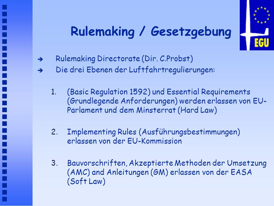 Rulemaking / Gesetzgebung