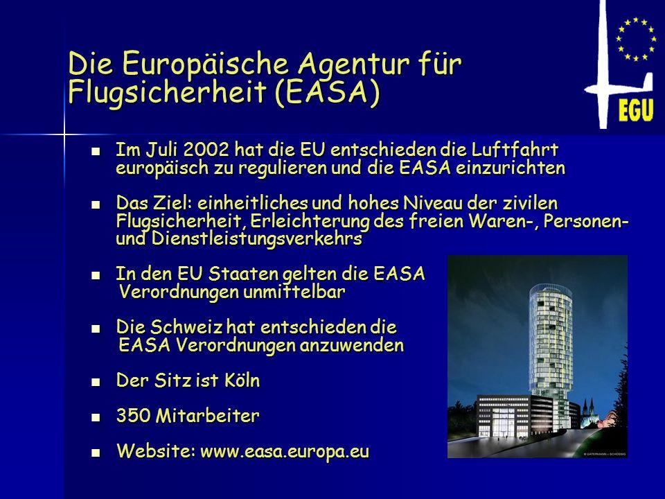 Die Europäische Agentur für Flugsicherheit (EASA)