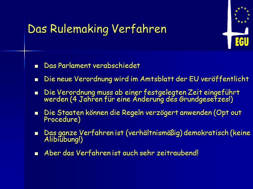 Das Rulemaking Verfahren
