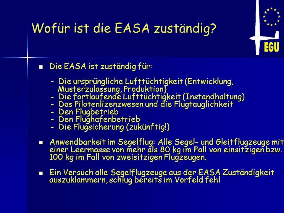 Wofür ist die EASA zuständig