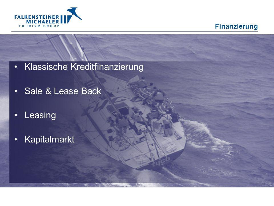 Klassische Kreditfinanzierung Sale & Lease Back Leasing Kapitalmarkt