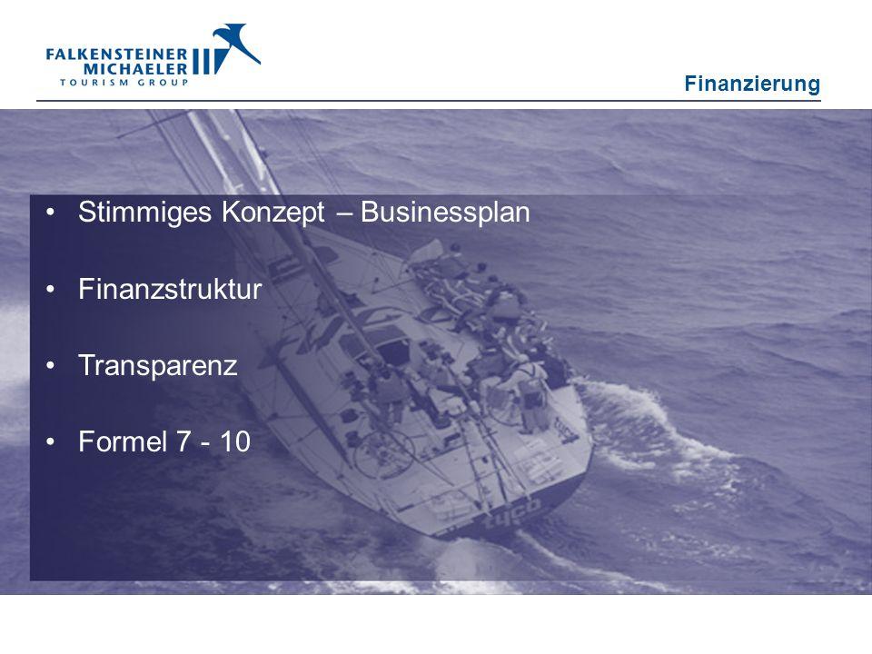 Stimmiges Konzept – Businessplan Finanzstruktur Transparenz